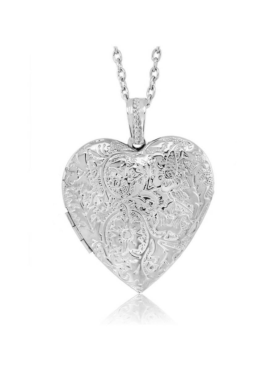 گردنبند زنانه طرح قلب نقره ای
